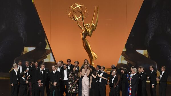 The cast and crew of Game Of Thrones accepts the award for outstanding drama series at the 71st Primetime Emmy Awards on Sunday, Sept. 22, 2019, at the Microsoft Theater in Los Angeles.  - Sputnik International