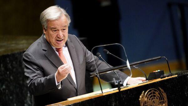 United Nations Secretary General Antonio Guterres addresses the opening of the 74th session of the United Nations General Assembly at U.N. headquarters in New York City, New York, U.S., September 24, 2019 - Sputnik International