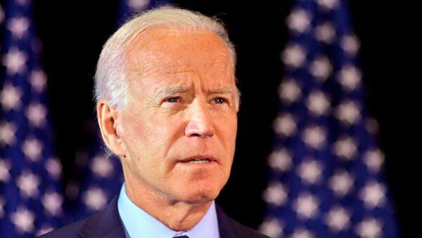 Joe Biden makes a statement on the whistleblower report in Wilmington, Delaware - Sputnik International