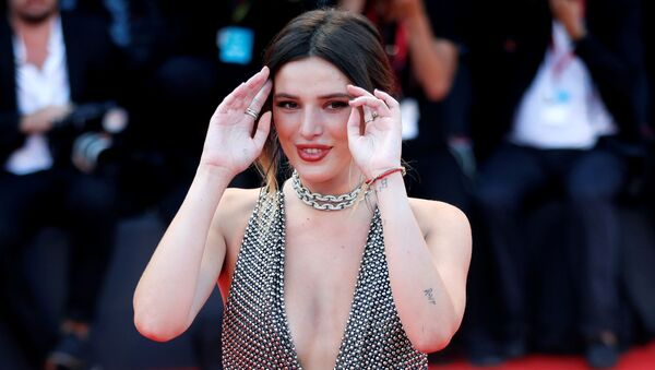 The 76th Venice Film Festival - Screening of the film Joker in competition - Red Carpet Arrivals- Venice, Italy, August 31, 2019 - Bella Thorne poses - Sputnik International