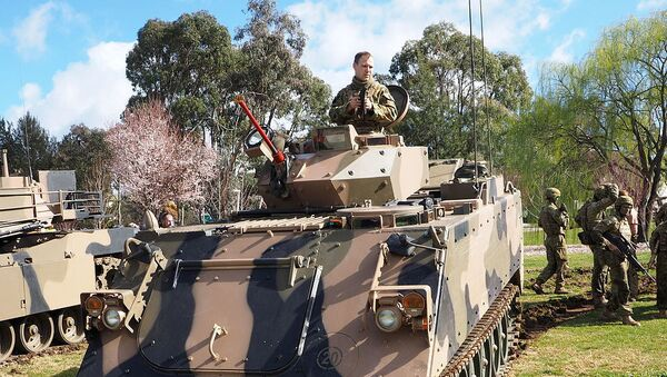 Front view of a M113AS4 at the 2015 ADFA open day - Sputnik International