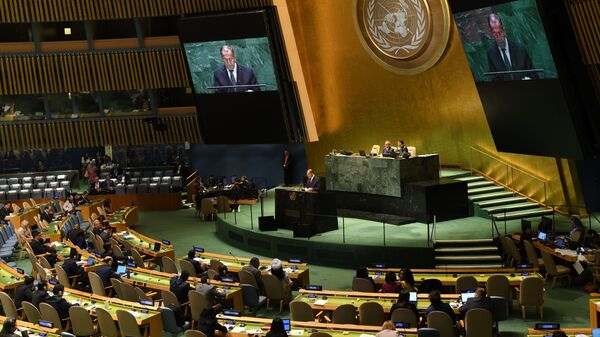 Russia is submitting to the UN General Assembly a draft resolution on strengthening the arms control system, Russian Foreign Minister Sergey Lavrov said on the sidelines of the UN General Assembly in New York. - Sputnik International