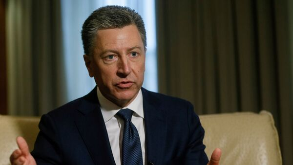 Kurt Volker, United States Special Representative for Ukraine Negotiations, gestures during an interview with Reuters in Kiev, Ukraine October 28, 2017. - Sputnik International