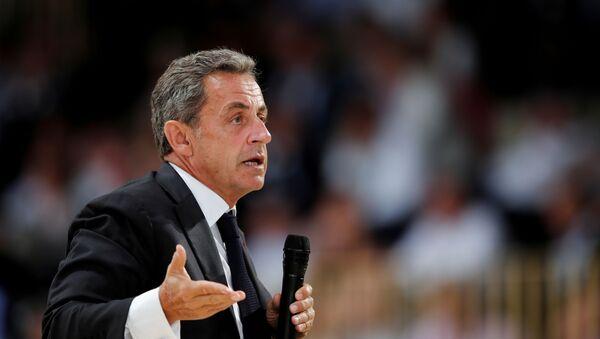Former French President Nicolas Sarkozy attends the MEDEF union summer forum renamed La Rencontre des Entrepreneurs de France, LaREF, at the Paris Longchamp racecourse in Paris, France, August 29, 2019 - Sputnik International