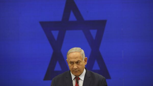 In this Tuesday, Sept. 10, 2019 file photo, Israeli Prime Minister Benjamin Netanyahu, speaks during a press conference in Tel Aviv, Israel - Sputnik International