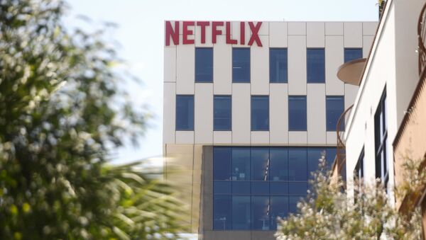 The Netflix logo is displayed at Netflix offices on Sunset Boulevard on May 29, 2019 in Los Angeles, California. - Sputnik International