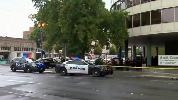 Image shows police scene outside the Smith Towers retirement home in Vancouver, Washington State. - Sputnik International