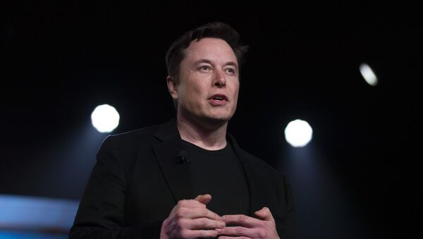 FILE - In this Thursday, March 14, 2019 file photo, Tesla CEO Elon Musk speaks before unveiling the Model Y at the company's design studio in Hawthorne, Calif. - Sputnik International