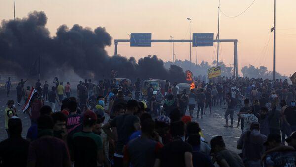 Anti-Government Protests in Baghdad, Iraq - Sputnik International