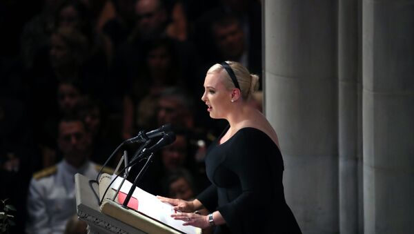WASHINGTON, DC - SEPTEMBER 1: Meghan McCain delivers a eulogy during the funeral service for U.S. Sen. John McCain at the National Cathedral on September 1, 2018 in Washington, DC. - Sputnik International