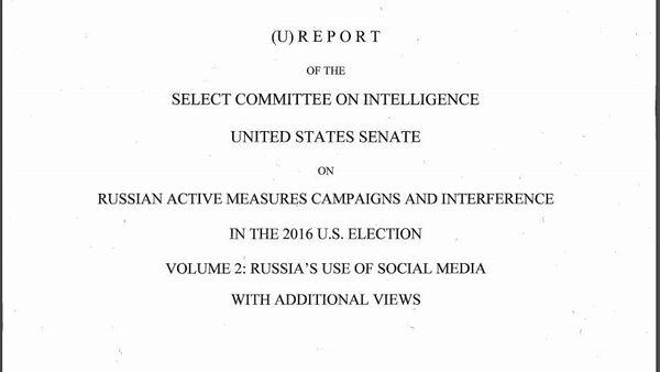 Senate Intelligence Committee Report on Alleged Russian Meddling in 2016 Elections - Sputnik International