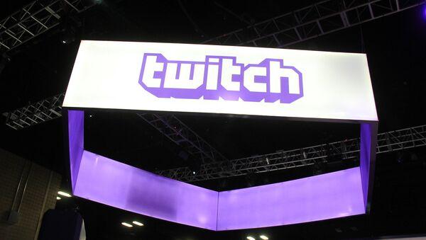 Twitch logo on a sign - Sputnik International