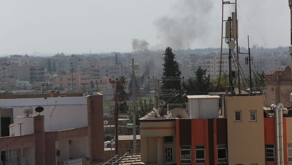 Syria's Qamishli during Turkish military operation - Sputnik International