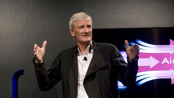 In this Wednesday, Sept., 14, 2011 file photo, Inventor James Dyson launches the Dyson DC41 Ball vacuum and the Dyson Hot heater fan on in New York. - Sputnik International