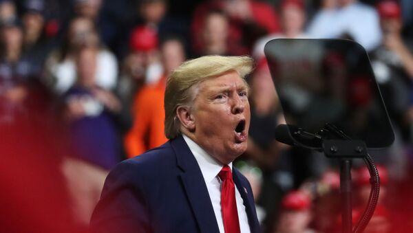 U.S. President Donald Trump holds a campaign rally in Minneapolis, Minnesota, U.S., October 10, 2019.  - Sputnik International