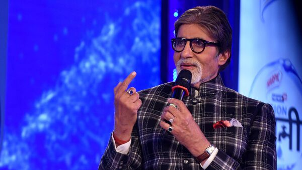 Indian Bollywood actor Amitabh Bachchan takes part in a launch event for the water conservation effort Mission Paani in Mumbai on August 27, 2019 - Sputnik International