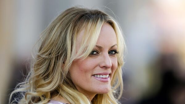 In this Oct. 11, 2018, file photo, adult film actress Stormy Daniels attends the opening of the adult entertainment fair 'Venus' in Berlin, Germany. - Sputnik International