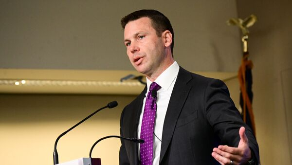 Acting DHS Secretary Kevin McAleenan speaks at a Council of Foreign Relations (CFR) forum on the role of the Homeland Security Department and the challenge of immigration in the United States in Washington, U.S., September 23, 2019 - Sputnik International