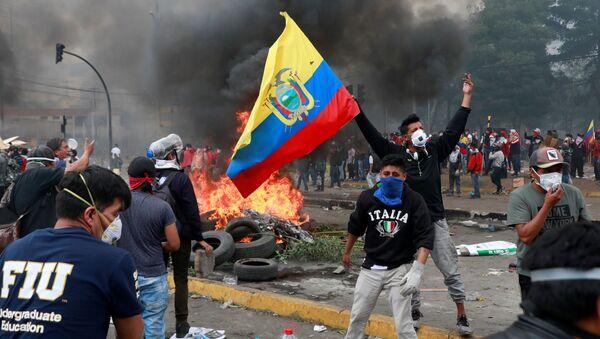 Protests Against Ecuador's President Lenin Moreno in Quito - Sputnik International