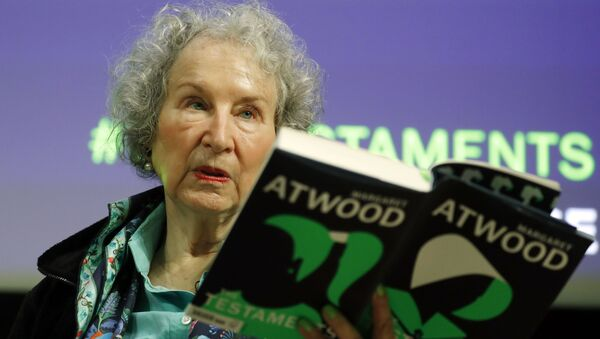 Canadian author Margaret Atwood speaks during a press conference at the British Library to launch her new book 'The Testaments' in London, Tuesday, Sept. 10, 2019.  - Sputnik International