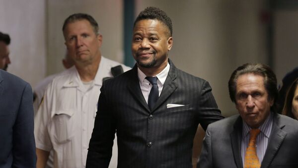 Cuba Gooding Jr. arrives to a courtroom in New York, Thursday, Oct. 10, 2019.   The actor is accused of placing his hand on a 29-year-old woman's breast and squeezing it without her consent in New York on June 9.  - Sputnik International