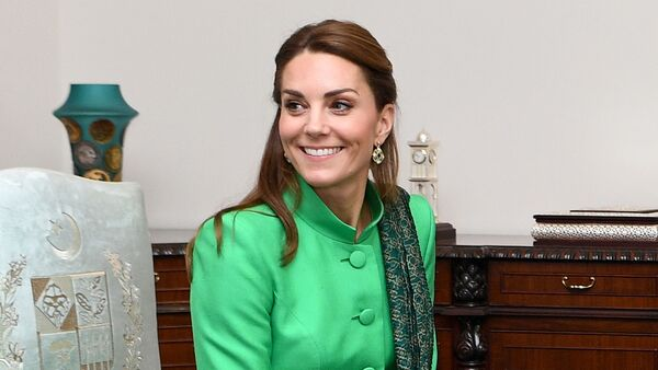 Britain's Catherine, Duchess of Cambridge attends a meeting with Pakistan's Prime Minister Imran Khan in Islamabad, Pakistan, October 15, 2019 - Sputnik International