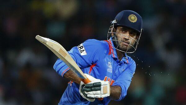 India's batsman Irfan Pathan plays a shot during the ICC Twenty20 Cricket World Cup Super Eight match against Australia in Colombo, Sri Lanka, Friday, Sept. 28, 2012 - Sputnik International