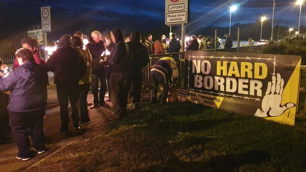 Communities Against Brexit protest in Ireland - Sputnik International