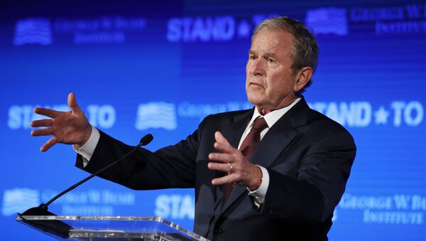 Former President George W. Bush speaks Friday, 23 June 2017, during Stand-To, a summit held by the George W. Bush Institute, focused on veteran transition, in Washington. - Sputnik International