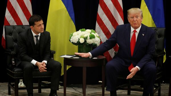 U.S. President Donald Trump speaks during a bilateral meeting with Ukraine's President Volodymyr Zelenskiy on the sidelines of the 74th session of the United Nations General Assembly (UNGA) in New York City, New York, U.S., September 25, 2019 - Sputnik International