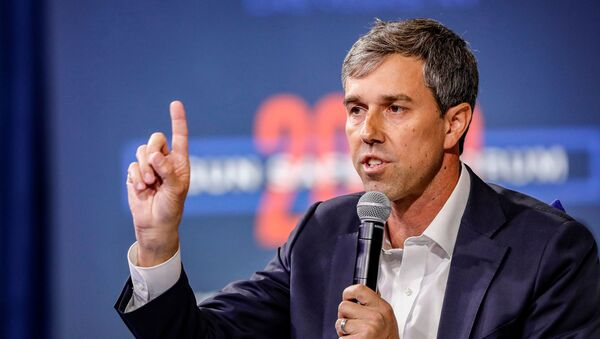 U.S. Democratic presidential candidate and former Texas Congressman Beto O'Rourke responds to a question during a forum held by gun safety organizations the Giffords group and March For Our Lives in Las Vegas, Nevada, U.S. October 2, 2019 - Sputnik International