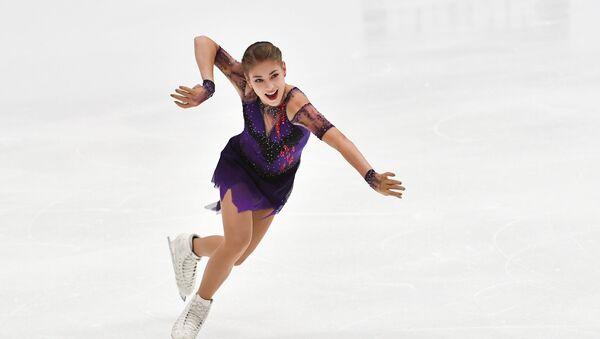 Russia's Alena Kostornaia skates her free program at the Finlandia Trophy figure skating competition in Espoo, Finland. - Sputnik International
