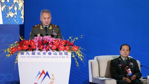 Russian Defense Minister Sergey Shoygu speaks at the plenary session of the Xianshan Forum - Sputnik International
