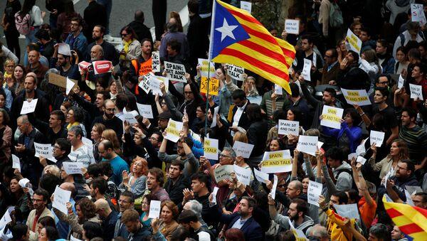 Protests in Barcelona - Sputnik International