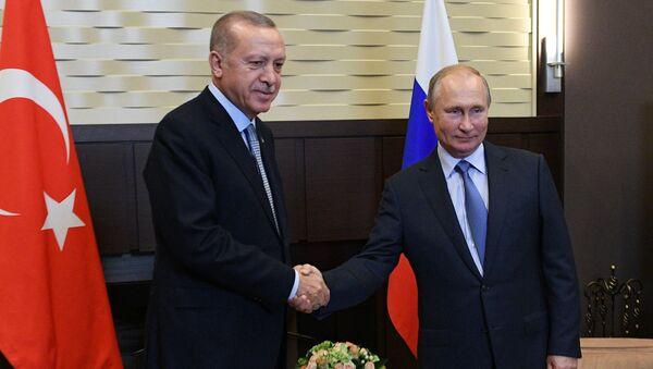 Russian President V. Putin Meets with Turkish President R. T. Erdogan - Sputnik International