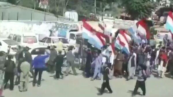 lathicharged protesters in Muzaffarabad (Pakistan Occupied Kashmir) yesterday, during a rally carried out by various political parties under the All Independent Parties Alliance (AIPA) - Sputnik International