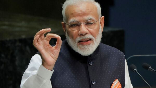 FILE PHOTO: Prime Minister of India Narendra Modi addresses the 74th session of the United Nations General Assembly at U.N. headquarters in New York, U.S., September 27, 2019 - Sputnik International