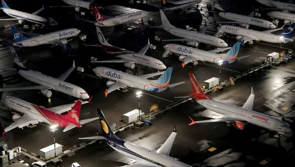 Aerial photos show Boeing 737 Max airplanes on the tarmac in Seattle - Sputnik International