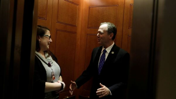 Congressman Adam Schiff (D-CA) leaves after a closed-door deposition from Deputy Assistant Secretary of Defense Laura Cooper as part of the U.S. House of Representatives impeachment inquiry into U.S. President Donald Trump on Capitol Hill in Washington, U.S., October 23, 2019. - Sputnik International