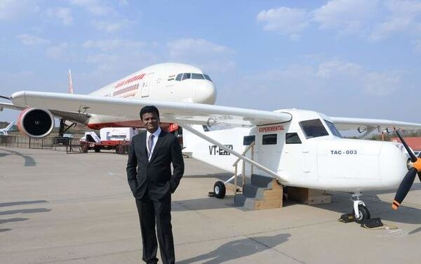 Amol Yadav is now planning to launch India's first aeroplane manufacturing company. // Photo / Madhur Surve - Sputnik International
