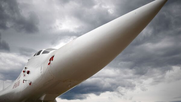 Tupolev Tu-160 supersonic heavy strategic bomber is pictured at the ARMY 2019 International Military and Technical Forum, in Kubinka, Moscow region, Russia. - Sputnik International