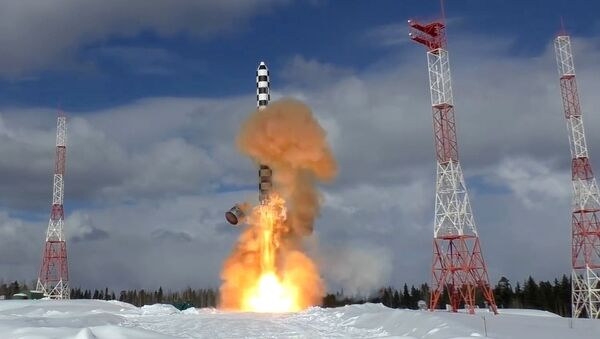 Launch of the Sarmat heavy intercontinental ballistic missile from the Plesetsk launch site - Sputnik International