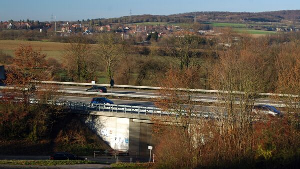 Dielheim - Autobahn A6 und Kreisstrasse 4171 - 2016-12-03 - Sputnik International