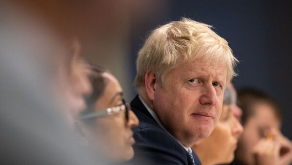 Britain's Prime Minister Boris Johnson visits Metropolitan Police training college in Hendon, London, Britain 31 October 2019. - Sputnik International