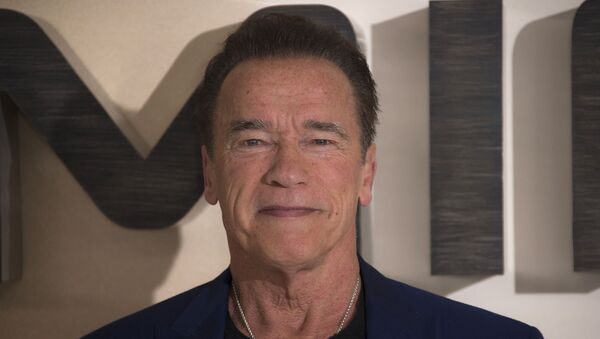 Actor Arnold Schwarzenegger poses for photographers upon arrival at the photo call of 'Terminator: Dark Fate' at a central London hotel, Thursday, Oct. 17, 2019. - Sputnik International