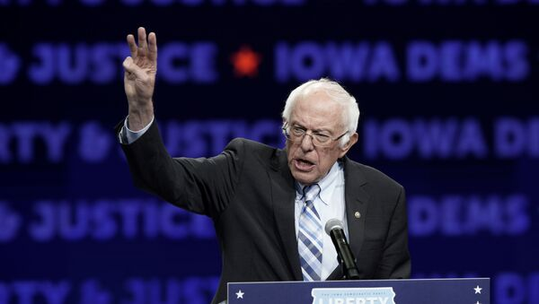Democratic presidential candidate Sen. Bernie Sanders speaks during the Iowa Democratic Party's Liberty and Justice Celebration, Friday, Nov. 1, 2019, in Des Moines, Iowa. - Sputnik International