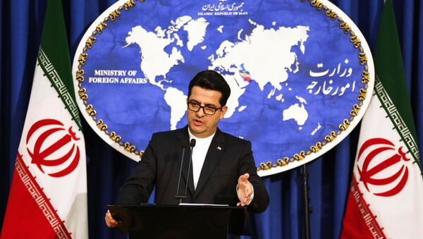 Abbas Mousavi, spokesman for Iran's Foreign Ministry, gives a press conference in the capital Tehran on May 28, 2019. - Sputnik International