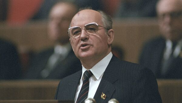 Soviet General Secretary Mikhail Gorbachev speaking at the 27th Congress of the Communist Party of the Soviet Union, March 6, 1986. - Sputnik International