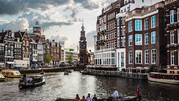View on water channel in Amsterdam, the Netherlands - Sputnik International