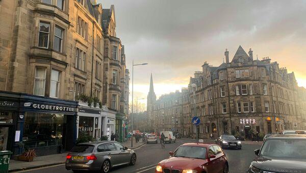 Busy Street In Edinburgh South  - Sputnik International